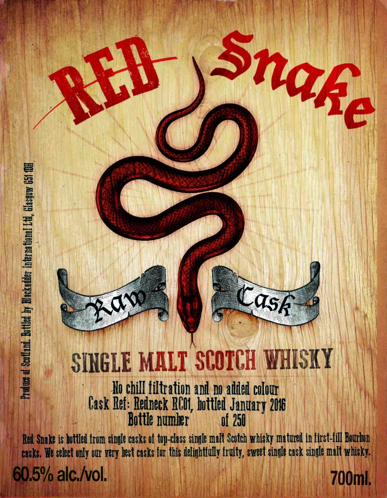 RED SNAKE REDNECK RC01 60.5% 700ML FRONT